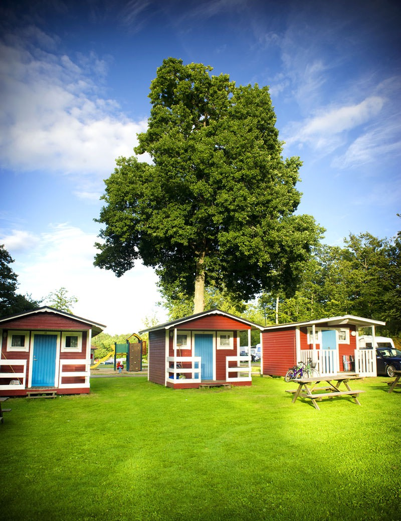 Small camping cottages at Kollevik's camping